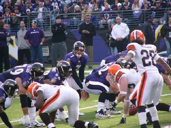 RAVENS BACK IN PLAYOFFS WITH WIN OVER BROWNS