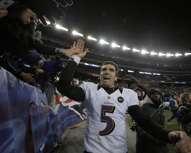 "Joe Flacco played safety in high school, was nicknamed ""The Long Arm of the Law"""