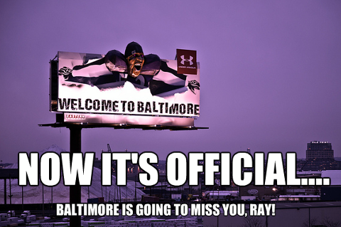 Ray Lewis won't be welcoming people to Baltimore anymore