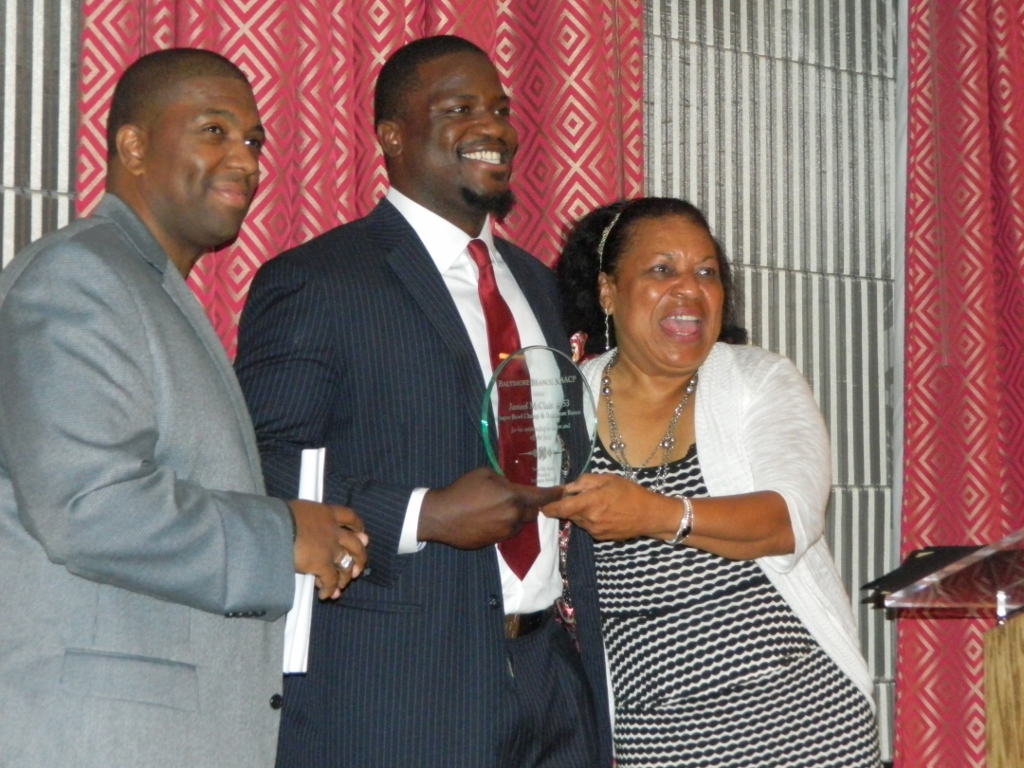Jameel McClain honored by Baltimore NAACP