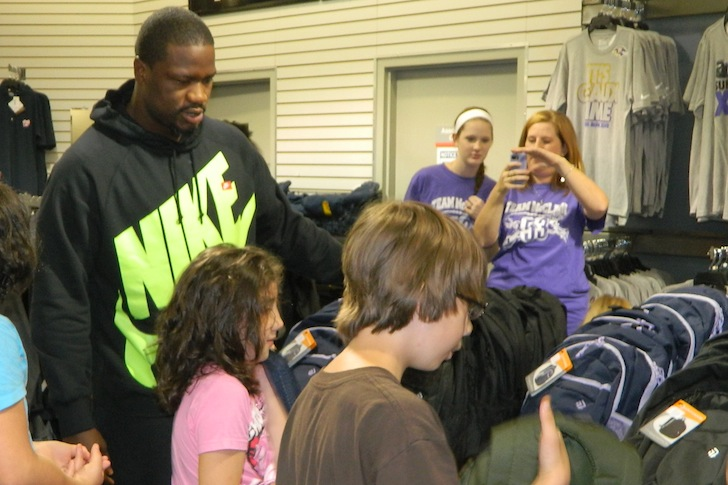 "Jameel McClain hosts ""53 kids"" back to school event"