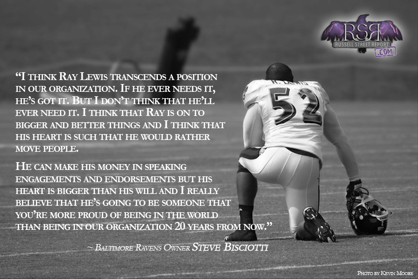 Baltimore Ravens Ray Lewis Quotes: STEVE BISCIOTTI: A Beautiful Mind 09/12/2014