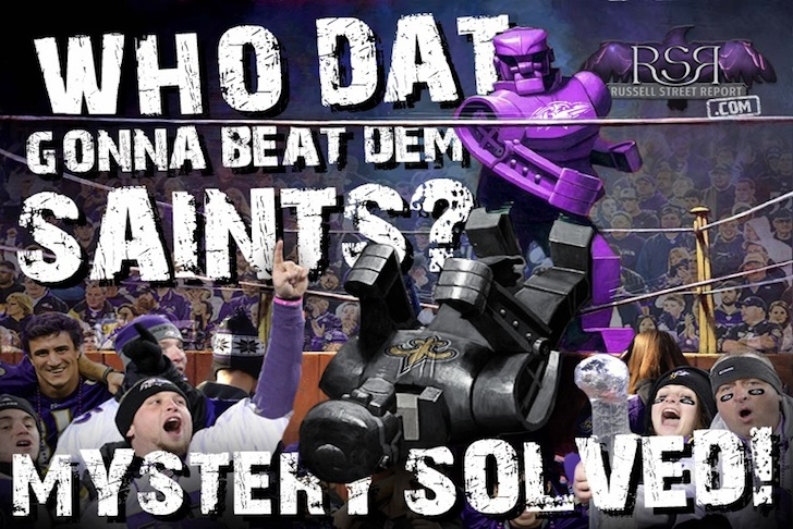 "Ravens Answer ""Who Dat?"""
