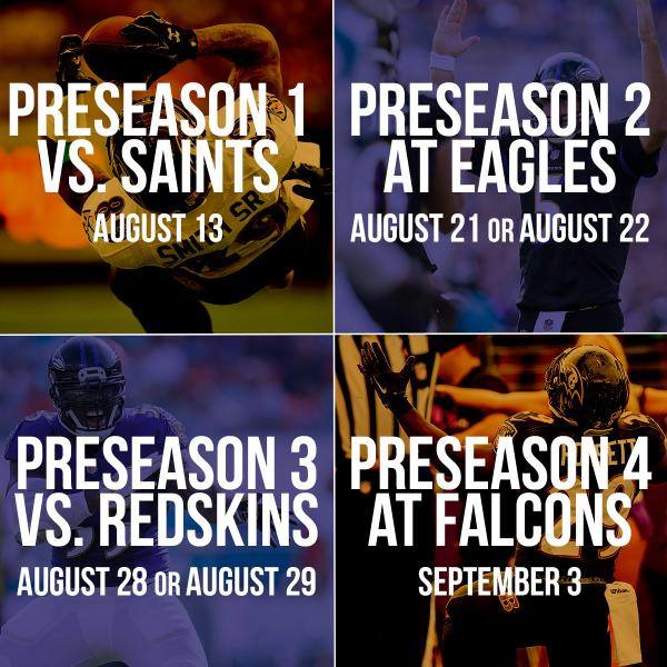 Baltimore Ravens Preseason Schedule