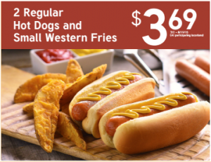 Royal Farms hot dogs and western fries