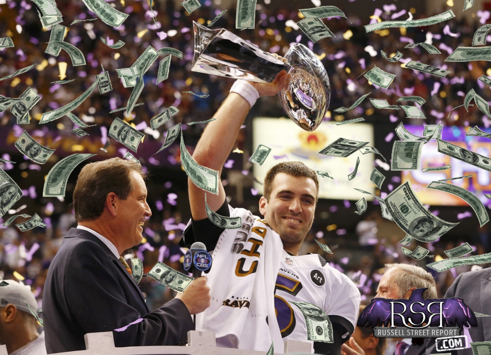 Ravens 30 to 1 Choice For Super Bowl 50