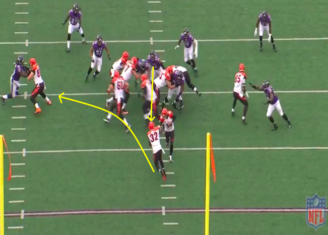 Carl Davis shows vision vs. Cincy.