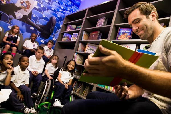 Flacco, Cass Unveil New School Library