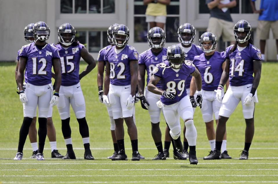 Ravens Miss Wide Left at Wide Receiver