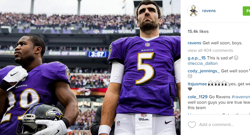 Social Media Reacts to Flacco's Injury