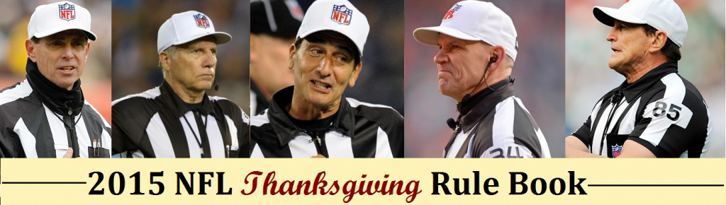 The NFL Officials Guide to Thanksgiving