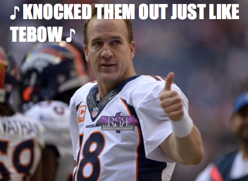 Peyton Follows In Tebow's Footsteps