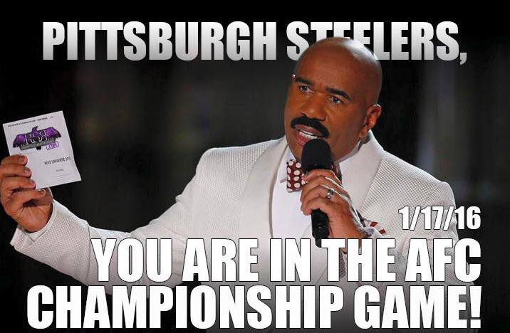 Steve Harvey Reveals Steelers' Fate