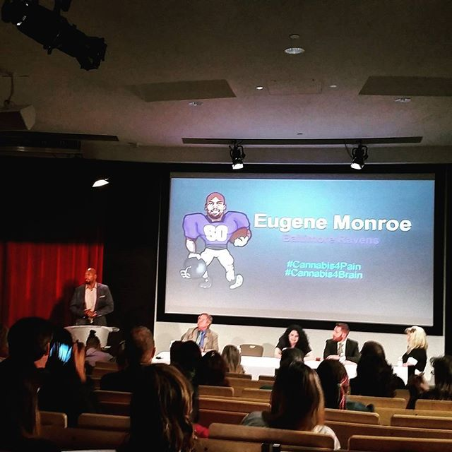 Ravens OT Eugene Monroe presents an argument for medical marijuana at UNLV.