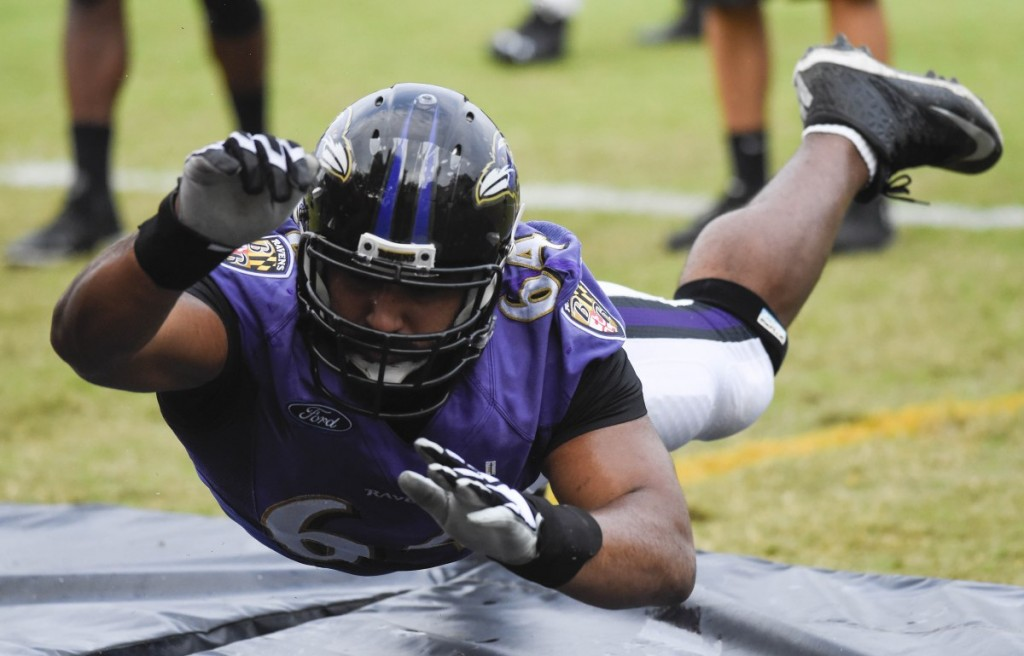 Ravens Camp Gets Physical