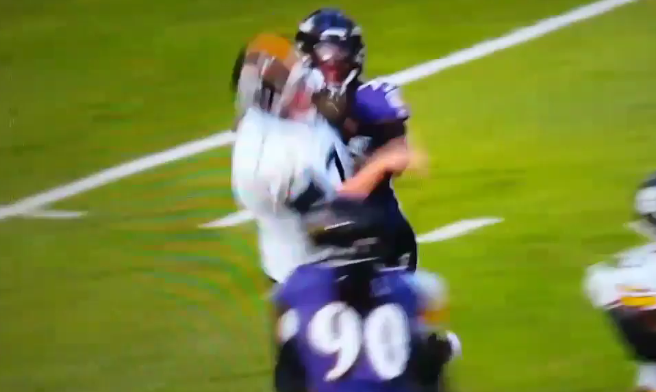 Terrell Suggs Lights Up Roethlisberger