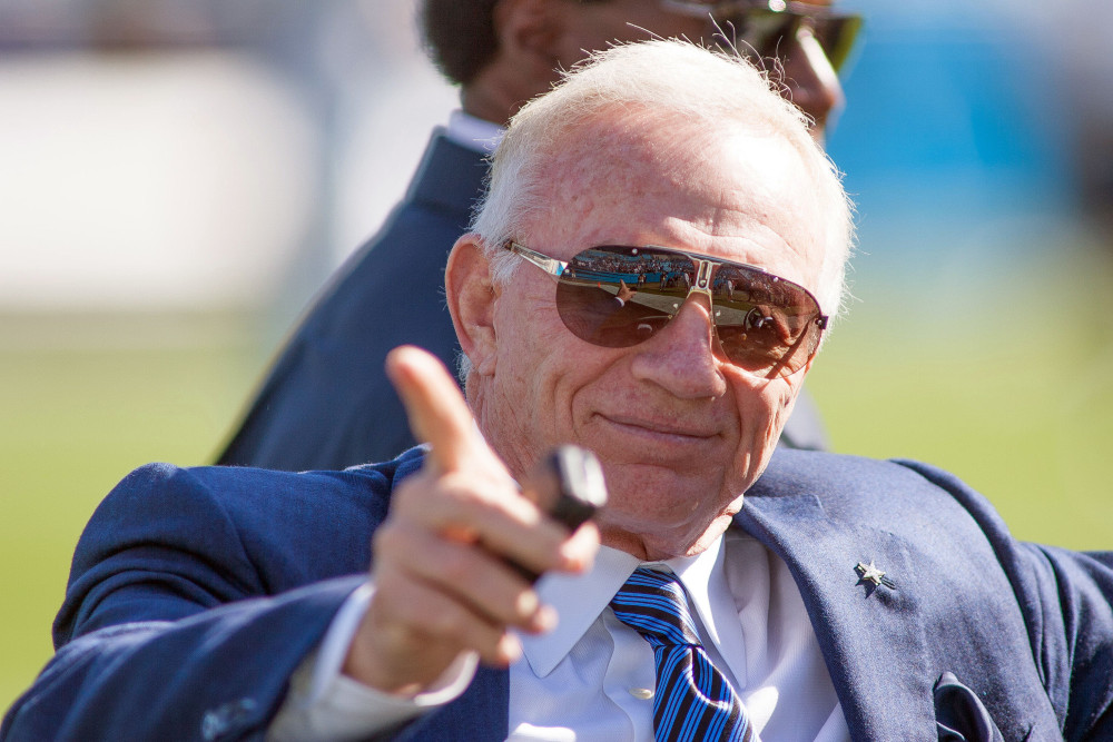 Oct 21, 2012; Charlotte, NC, USA; Dallas Cowboys owner Jerry Jones at Bank of America Stadium. Mandatory Credit: Jeremy Brevard-USA TODAY Sports
