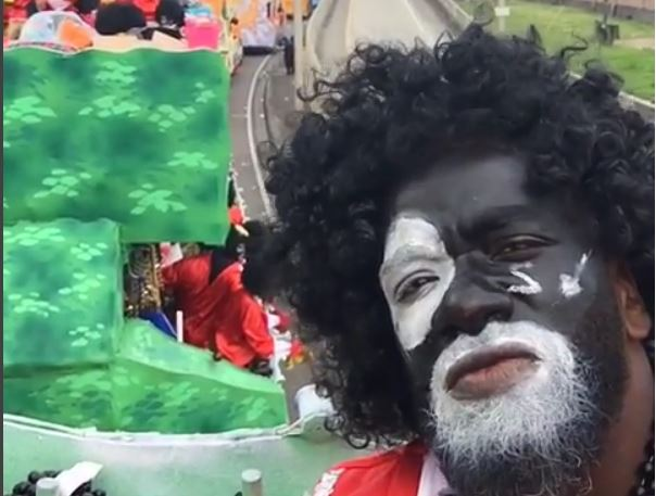 Ed Reed is Enjoying Mardi Gras