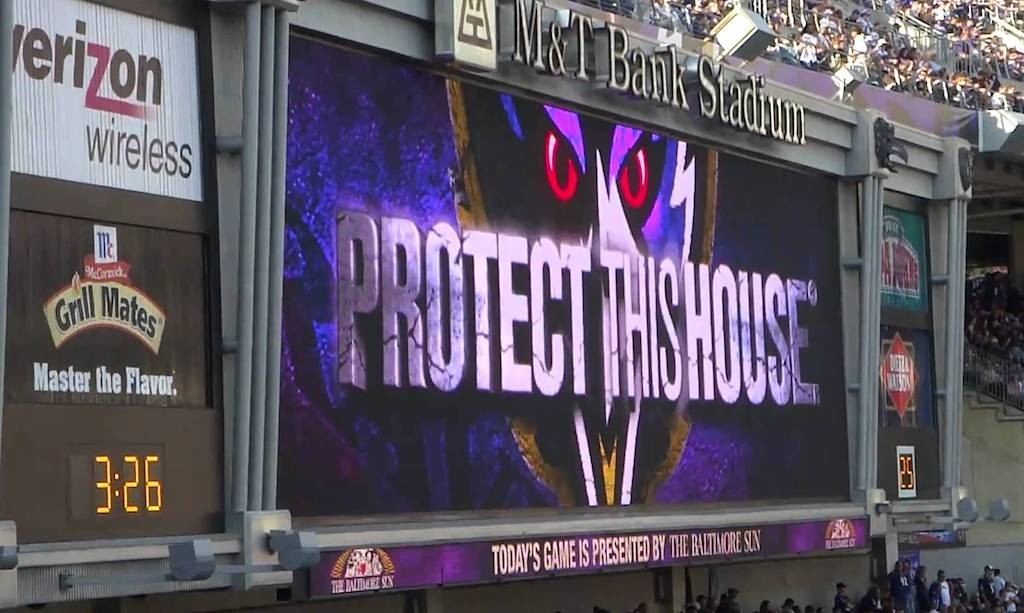 Ravens Video Boards Provide an Edge