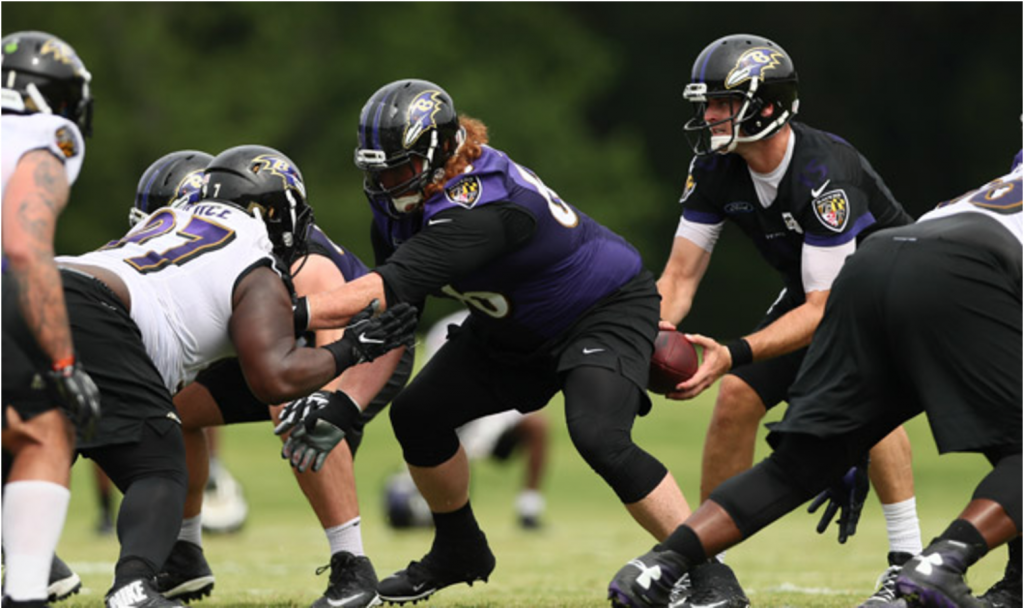 Ravens Practice Gets Physical