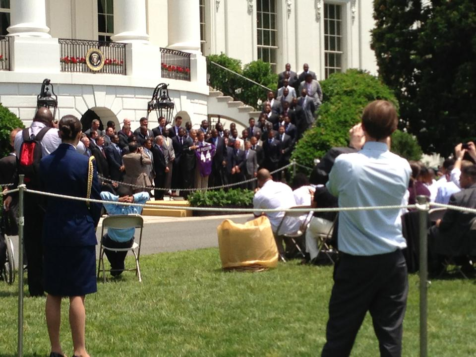 An insider's look at the media experience of the Ravens' White House visit