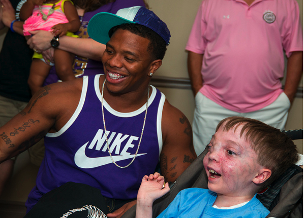 Ray Rice donates his time once again, and throws in a Super Bowl ring