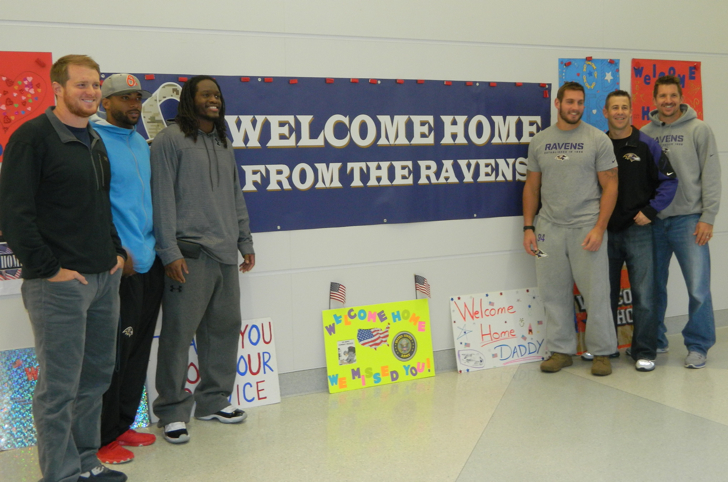 "Ravens ""Welcome Home"" Military Members at BWI Airport"