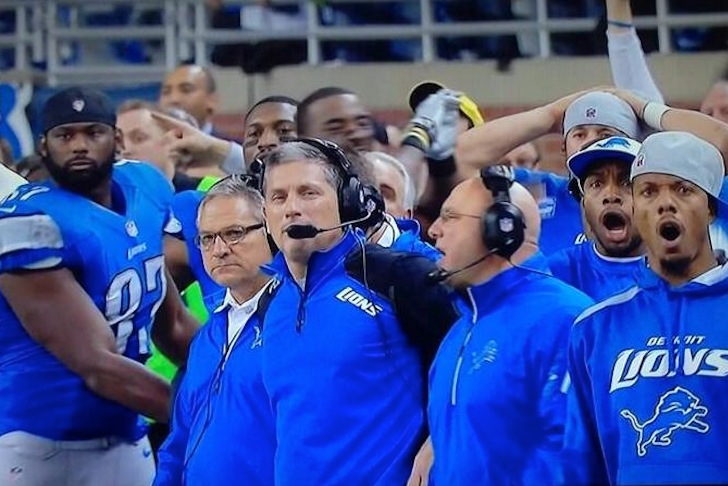 GIF: Lions Sideline Reacts to Tucker's 61-yard Field Goal
