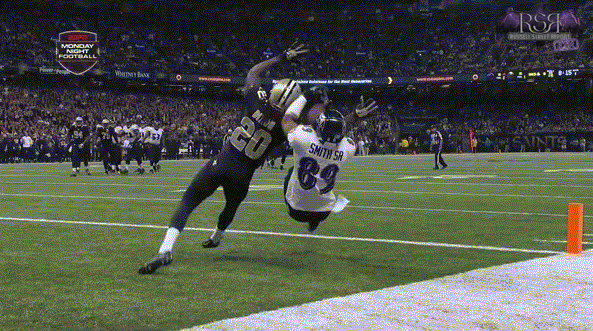 Steve Smith Scores, Celebrates vs Saints