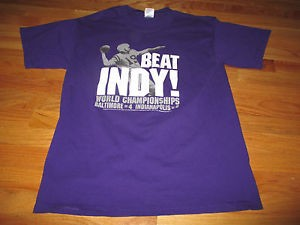 Beat Indy shirt worn by many fans during the Ravens divisional game against the Colts in 2006