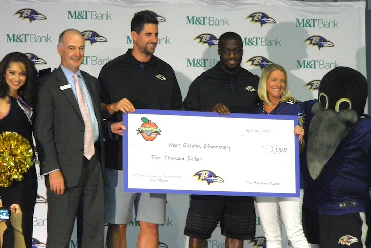 Ravens Honor Local School Teacher