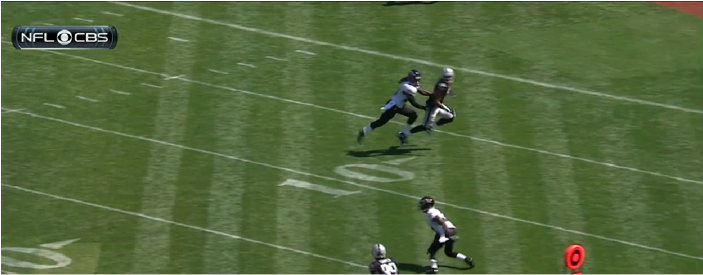 Look at the left hand of Lewis. See there? He sort of hooked Crabtree around waist