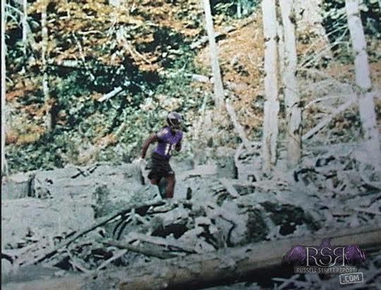 "Breshad Perriman photoshopped into the classic ""Bigfoot"" photos."