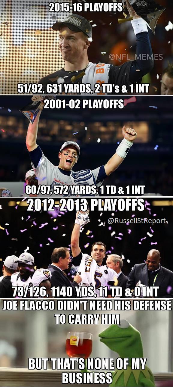Nfl Memes Draws Stupid Joe Flacco Peyton Manning Parallel