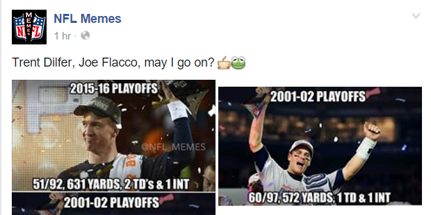 NFL Memes Stupid Flacco-Manning Parallel