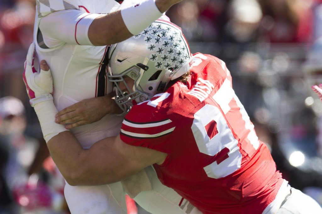 Ohio St. DE Joey Bosa takes down the quarterback.