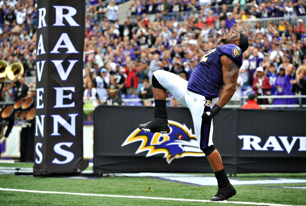 Ray Lewis doing the Squirrel dance.