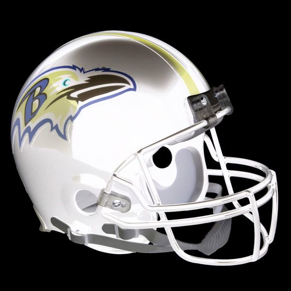 The Baltimore Ravens' opposite color helmet. The purple has changed to gold and the gold has changed to purple.