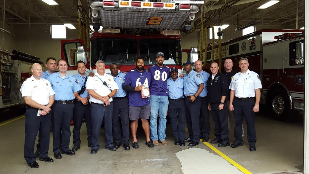 Ravens Surprise Ellicott City Responders