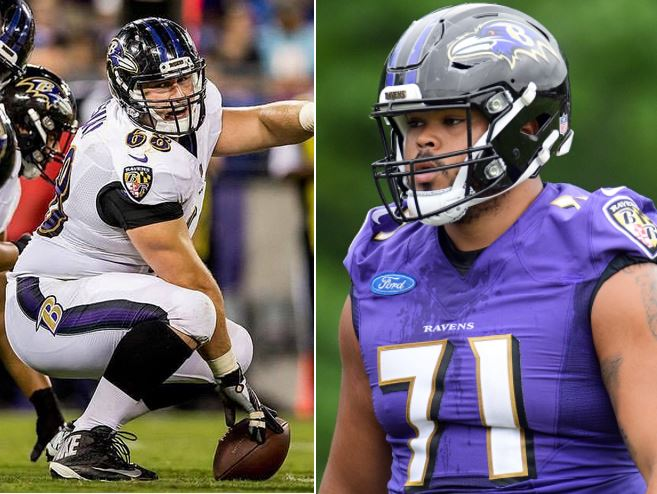 Young Ravens Linemen Scored vs. WAS