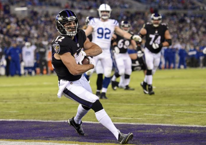 Michael Campanaro hauls in a TD against the Colts.