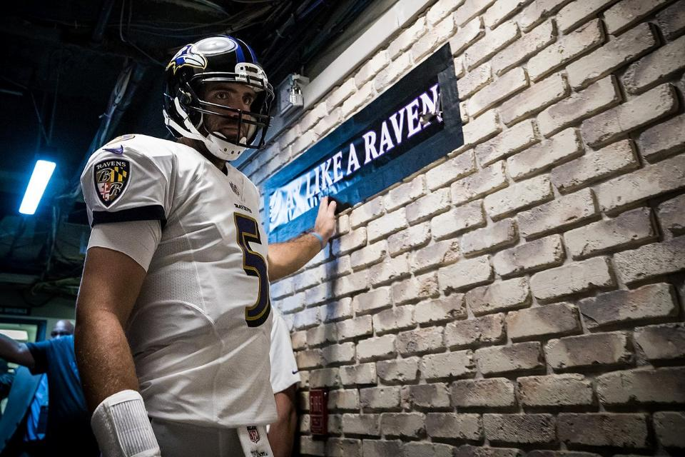 Flacco Has Entered the Building