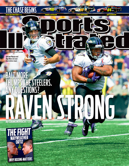 Joe Flacco and Ray Rice on the Cover of Sports Illustrated.