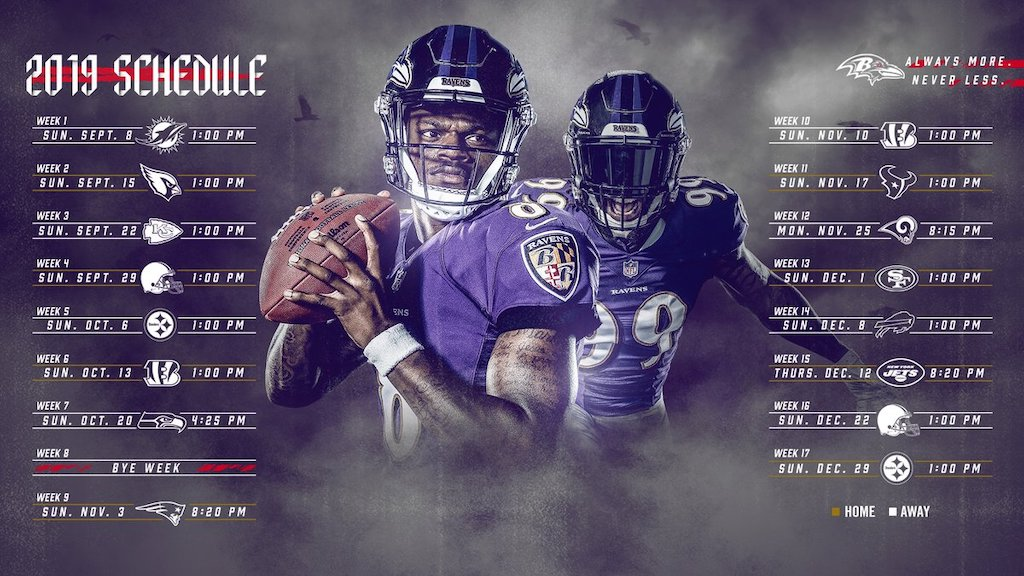 Mesmerizing image with ravens printable schedule
