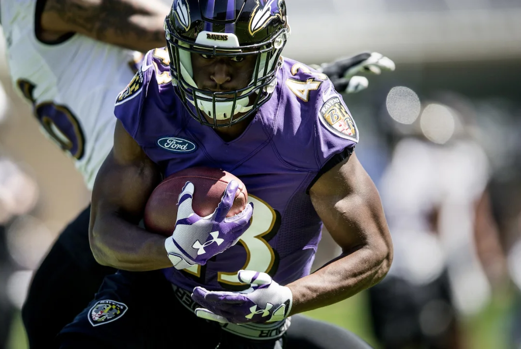 Uneven Day for Ravens Offense