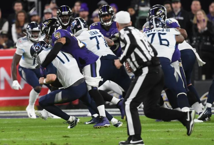 Titans End Ravens' Season 28-12