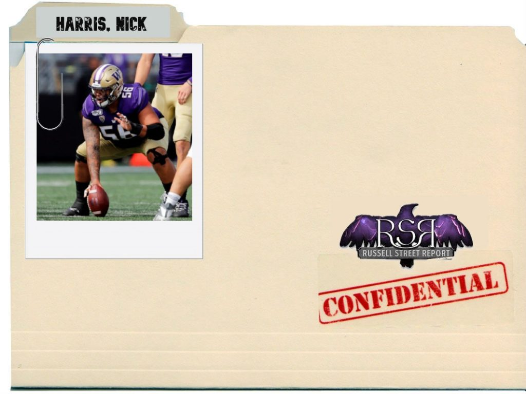 Nick Harris, C/G, Washington