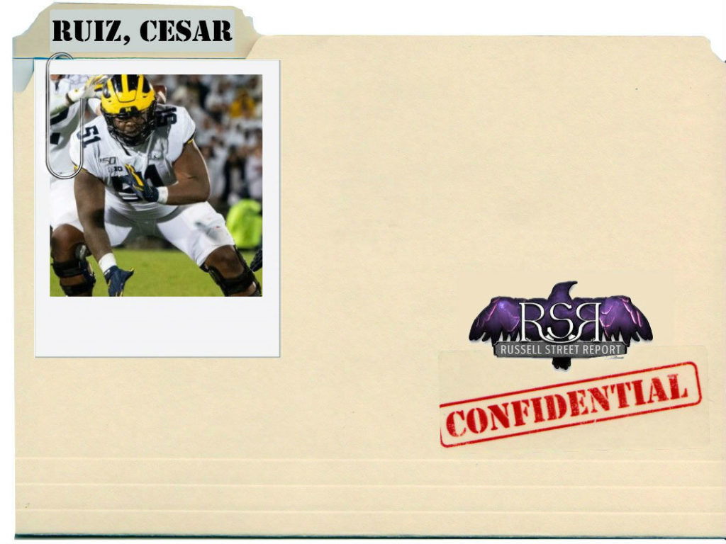 Michigan Center Cesar Ruiz