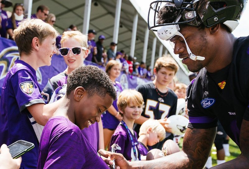 Fans Not Allowed at Ravens Training Camp