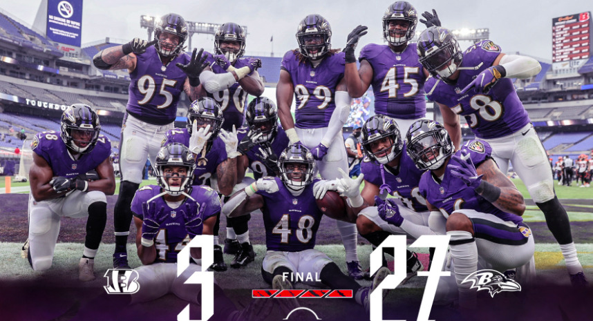Ravens D Pulverizes Bengals in 27-3 Win